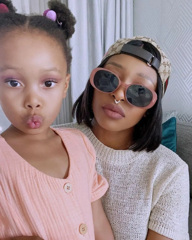DJ Zinhle and daughter
