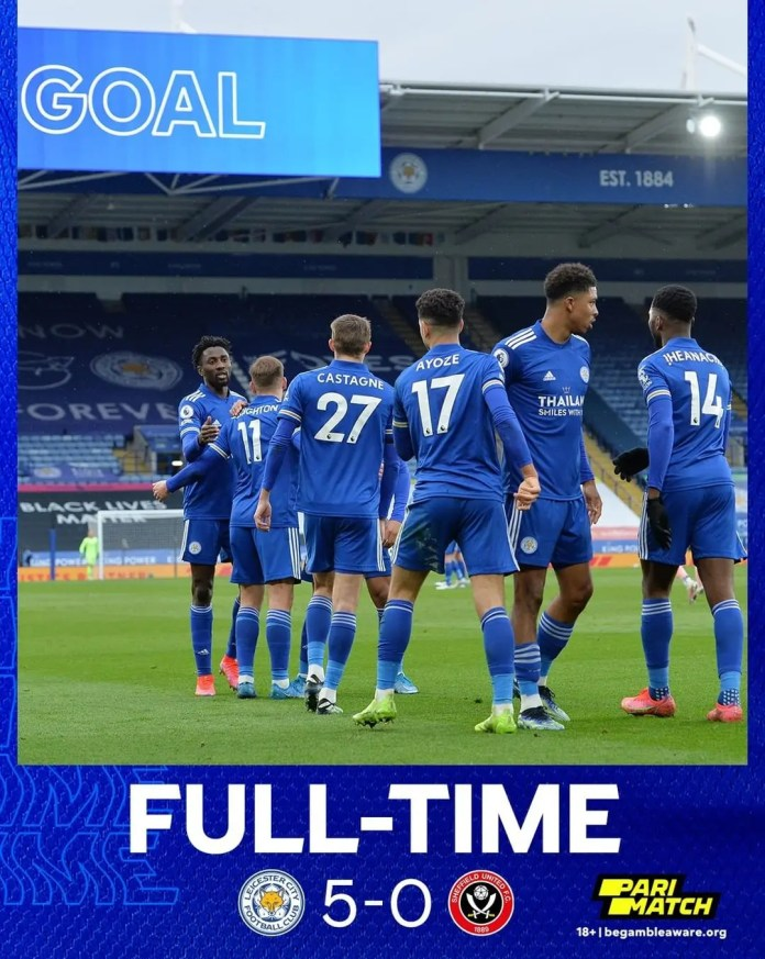 Leicester City hit 5 past troubled Sheffield United
