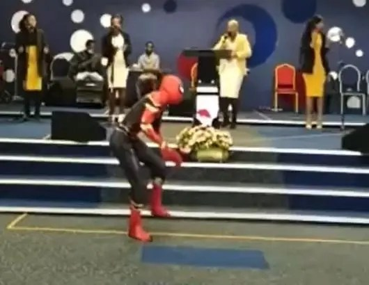 Video of Spider-Man dancing in the church breaks the internet – Watch
