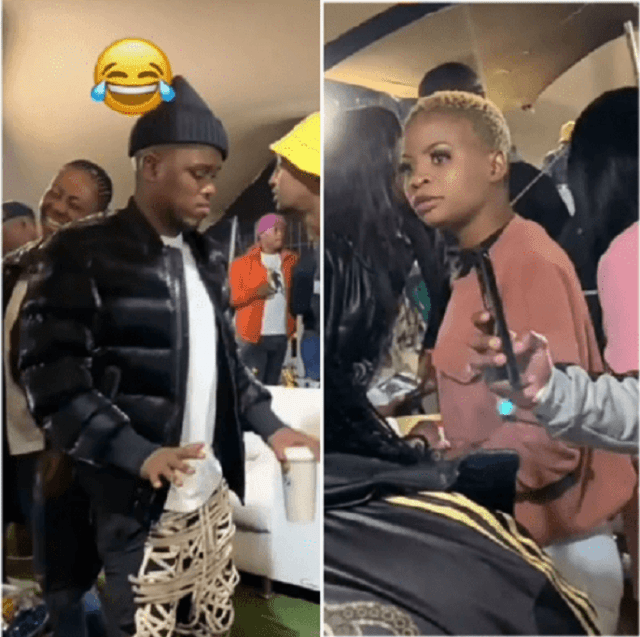 Video: Woman spotted eyeing DJ Zinhle's Boyfriend – What was she looking at?