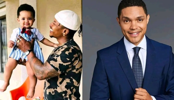 Happy Father's Day Trevor Noah! – Mzansi reacts to how Bontle Modiselle's child looks like the comedian