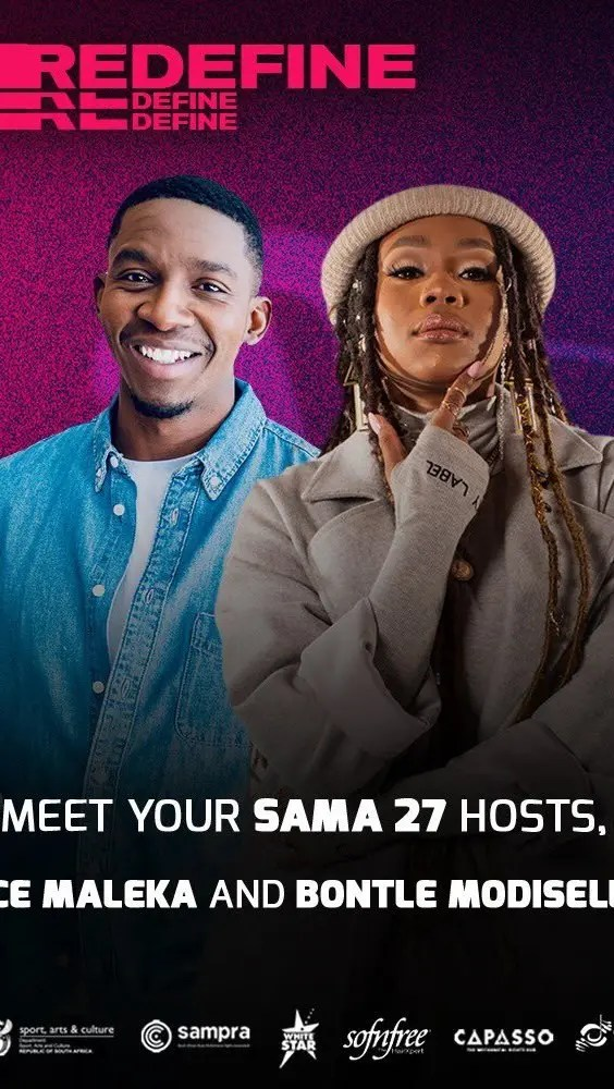 Bontle Modiselle and actor Lawrence Maleka to host this year's SAMA Awards
