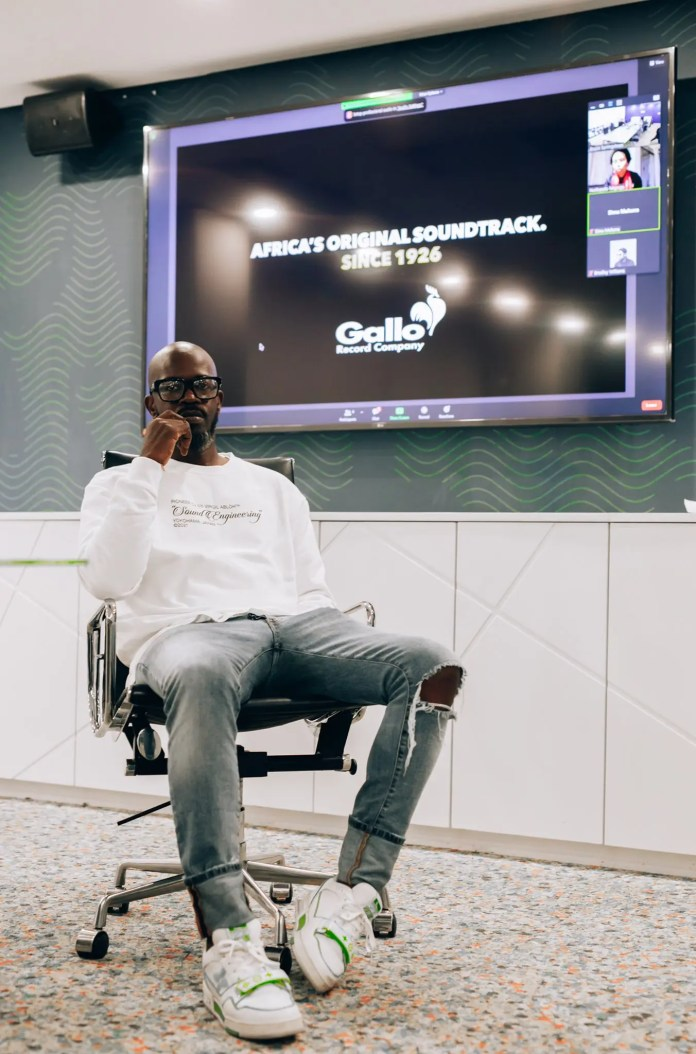 Black Coffee visits newly acquired Gallo record company for the first time