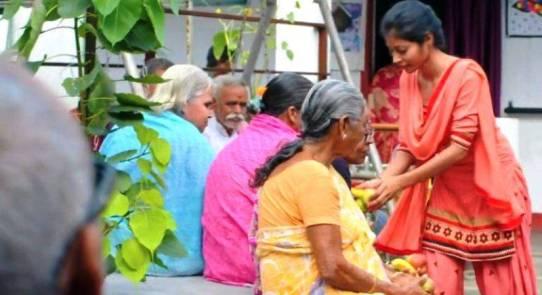 Nidhi Kumari Prasad in a retirement home