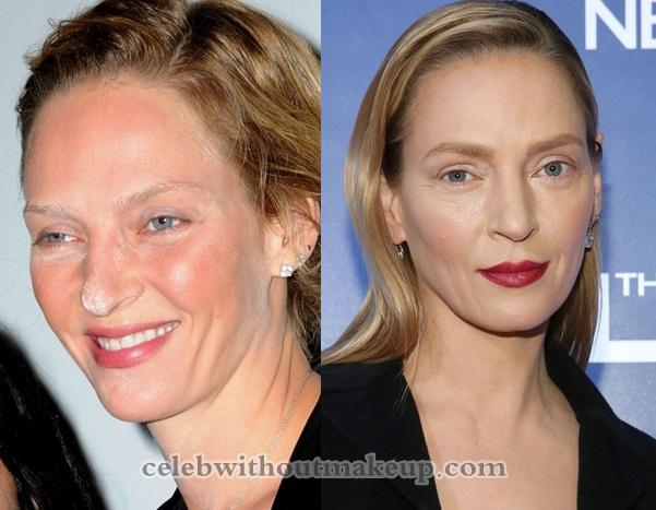 Uma Thurman Without Makeup