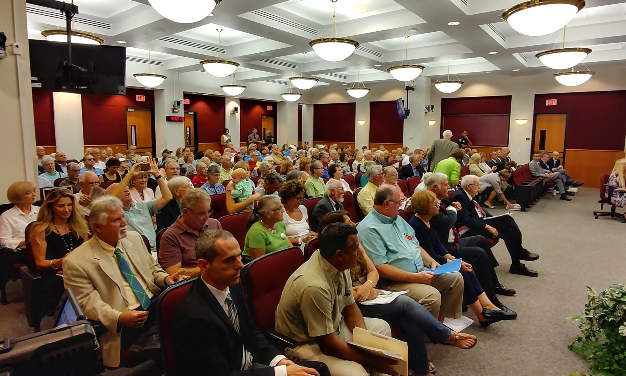 Photo of the people in attendance at the County Commission Hearing today