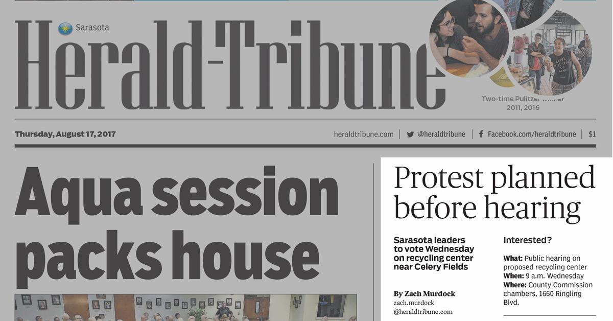 Sarasota Herald-Tribune, August 17, 2017