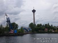 Näsinneula -tower and Särkänniemi -amusement park in Tampere