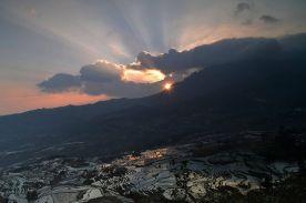 Sunrise in Yuanyang, China