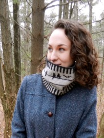 Knits of a Feather: Birds on a Wire Cowl