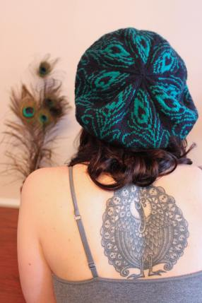 Knits of a Feather: Peacock Tam and Tattoo!