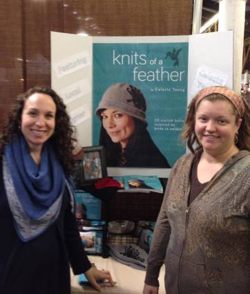 Celeste and Ashley in the Common Thread Saratoga booth at the Southern Adirondack FIber Festival