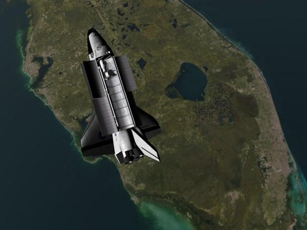 discovery au dessus de la terre