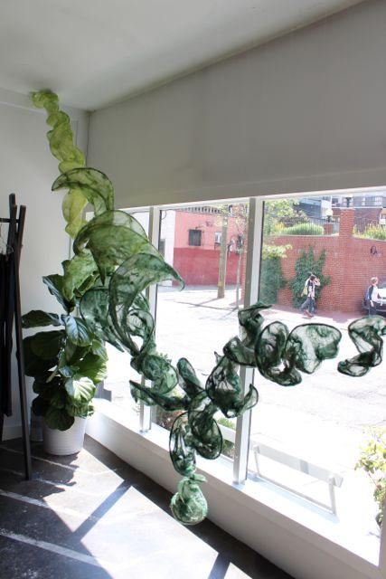 Algae Bloom, Silk Sculpture