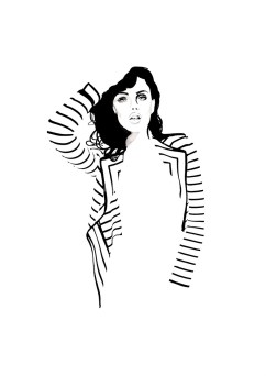 woman-black-stripes-illustration