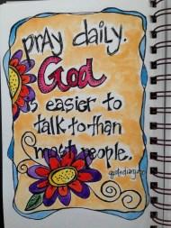 Pray Daily Gratitude Art