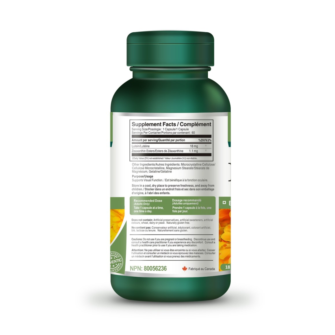 Lutein 18 mg 60 Capsules