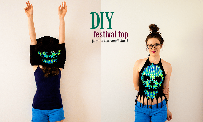 DIY Festival Top, No-Sew