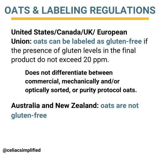 Oats and Gluten Free Labeling