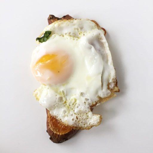 Sweet Potato with a Sunny Side Up Egg