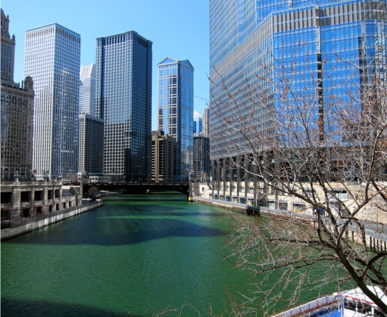 Chicago River, March 19, 2013 © 2013 Celia Her City