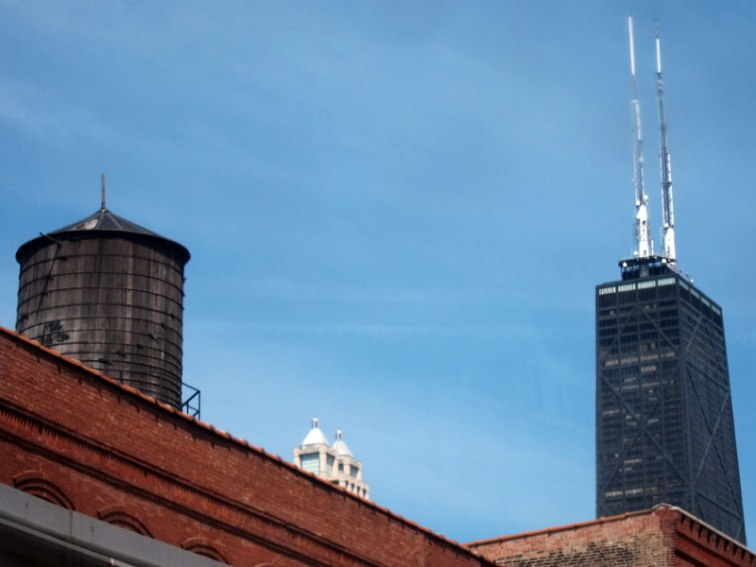 The John Hancock and a Chicago water tank, © 2013 Celia Her City