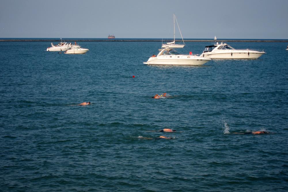 The swim lane in Lake Michigan, © 2013 Celia Her City