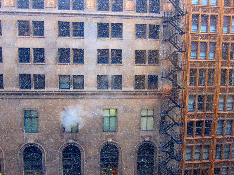 A memorable snow falls on Dearborn Street, © 2013 Celia Her City