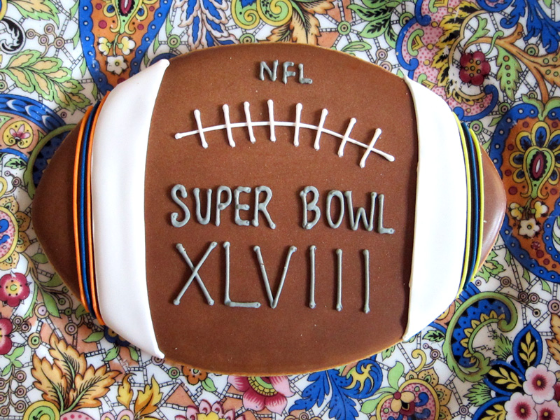 A Super Bowl Cookie from Bittersweet (Chicago), © 2014 Celia Her City.