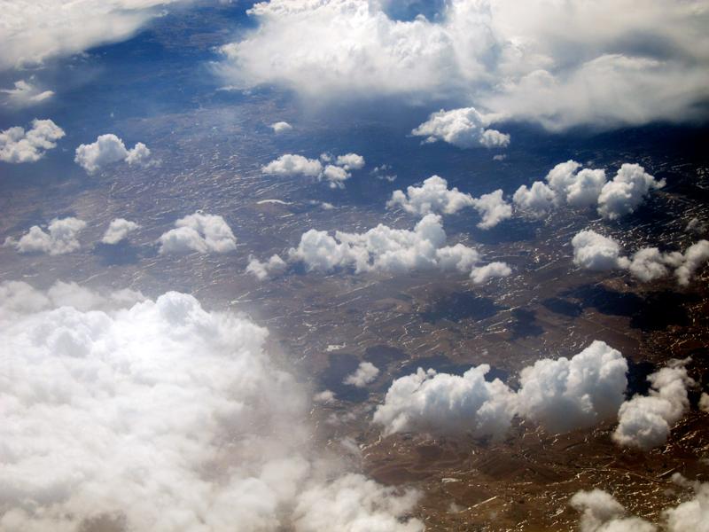 Flying west, © 2014 Celia Her City