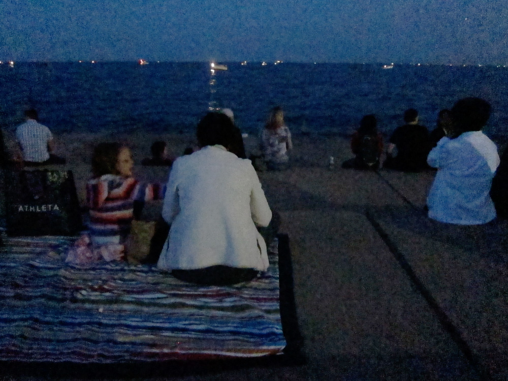 Waiting for the fireworks (Chicago), © 2014 Celia Her City