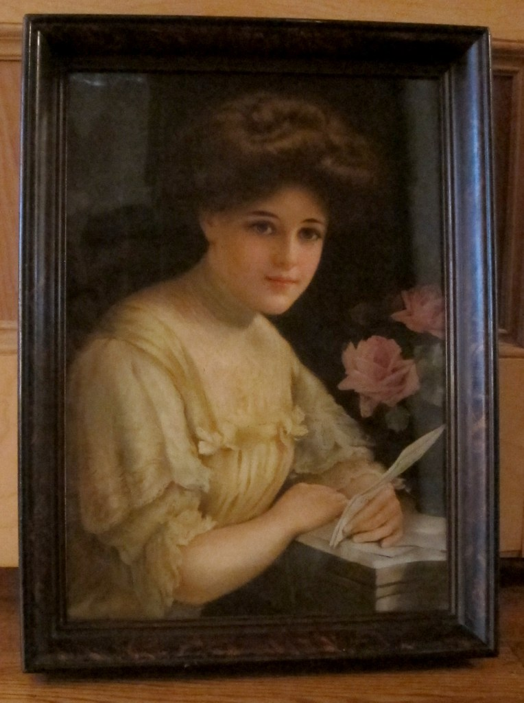 Framed picture of an Edwardian girl,© 2016 Celia Her City