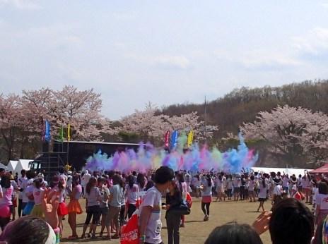 """""""The Color Run"""" - fun run and concert among the sakura!"""