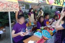 Outdoor food stalls