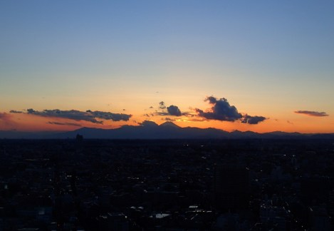 Mt Fuji at sunset