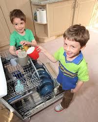 emptying dishwasher