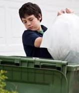 taking out trash for stepmother