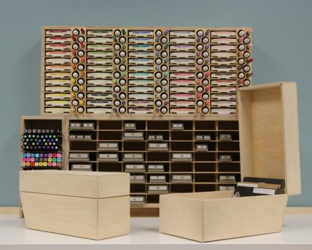 organize your crafting with stamp-n-storage