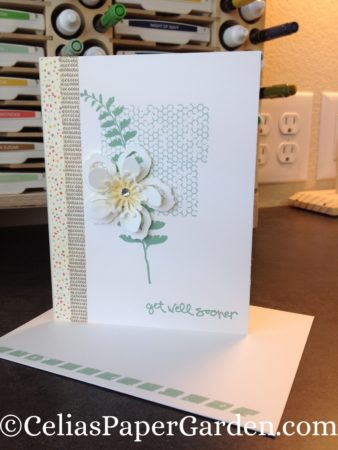 butterfly basics, greatest greetings, get well, card idea, celia's paper garden, card corsage, corsage, corsages, card