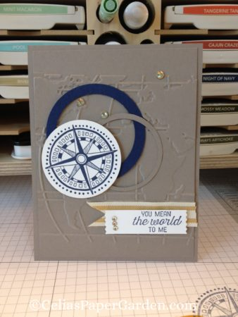 going global, masculine, card idea, celiaspapergarden, taupe, embossed