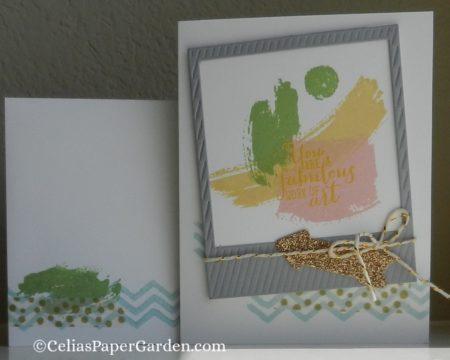 work of art, photo, framelit, celiaspapergarden, card idea