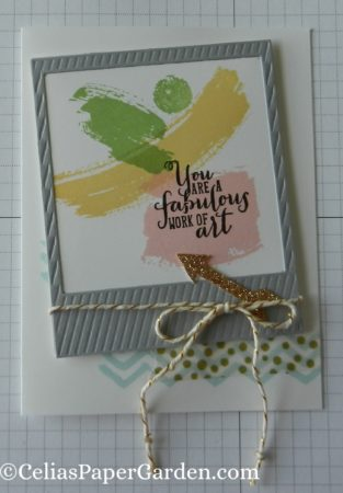work of art, photo framelit, celiaspapergarden, washi, card idea