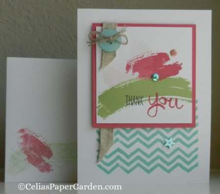 work of art, thank you, card, idea, celiaspapergarden