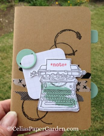 timeless textures decorated book jotter gift idea celiaspapergarden.com 2