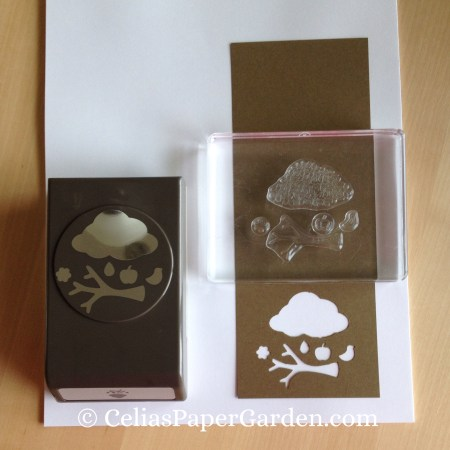 Celia's Paper Garden builder punch how to with stencil