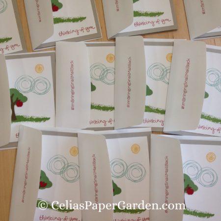 Celia's Paper Garden builder punch swirly bird friend card 2