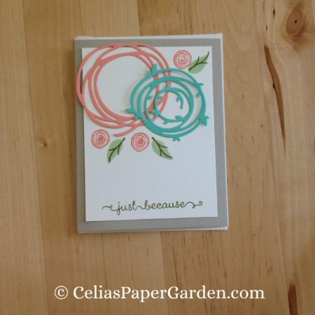 Celia's Paper Garden swirly bird friend card 4 cards in 30 minutes 2