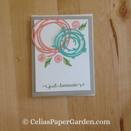 Celia's Paper Garden swirly bird friend card 4 cards in 30 minutes 2