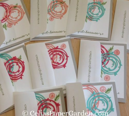 Swirly Bird Friendship Cards