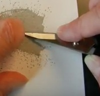 Adding a Tangle of Metallic Thread